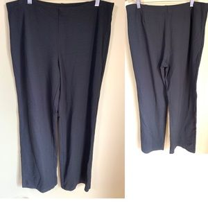 Pants - Eileen Fisher Black knit pull on pants
